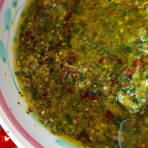 Foto Ricetta Pesto basilico, mandorle, pomodori secchi