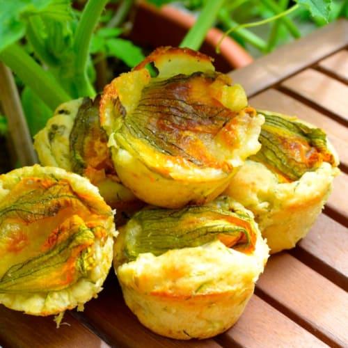 Foto Ricetta Muffin salati a tutte zucchine