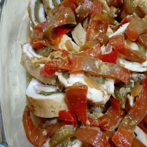 Foto Ricetta Rollè di pollo ai peperoni
