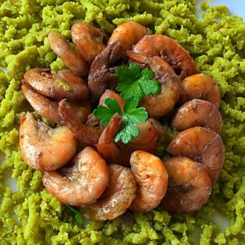 Foto Ricetta Code di gamberi su passatelli verdi