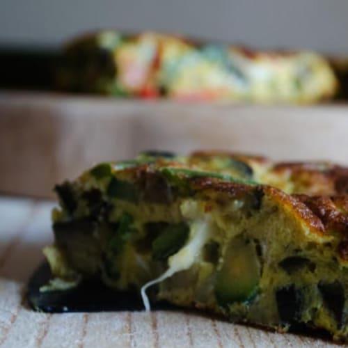 Foto Ricetta Frittata alle verdure con cuore filante