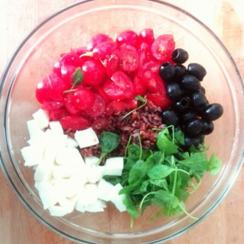 Foto Ricetta Insalta colorata di riso rosso
