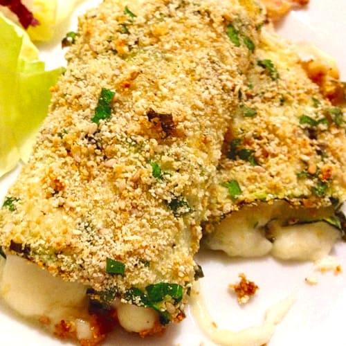 Foto Ricetta Involtini croccanti di zucchine prosciutto cotto formaggio