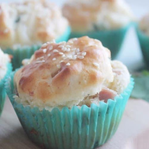 Foto Ricetta Muffin salati con prosciutto, casera e menta