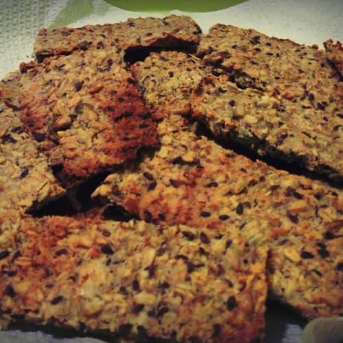 Foto Ricetta Crackers di avena ai semi