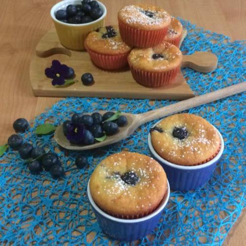 Foto Ricetta Muffin allo yogurt e mirtilli senza burro
