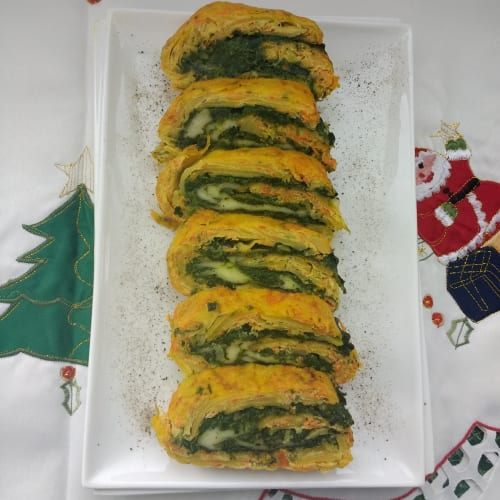 Foto Ricetta Polpettone di patate ripieno di spinaci