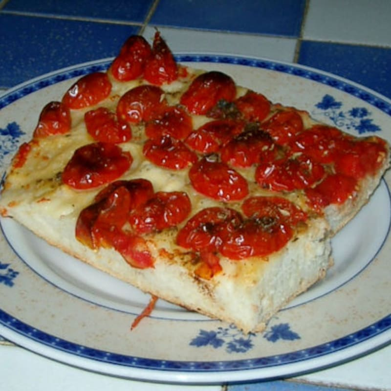 Foto Ricetta Focaccia with cherry tomatoes