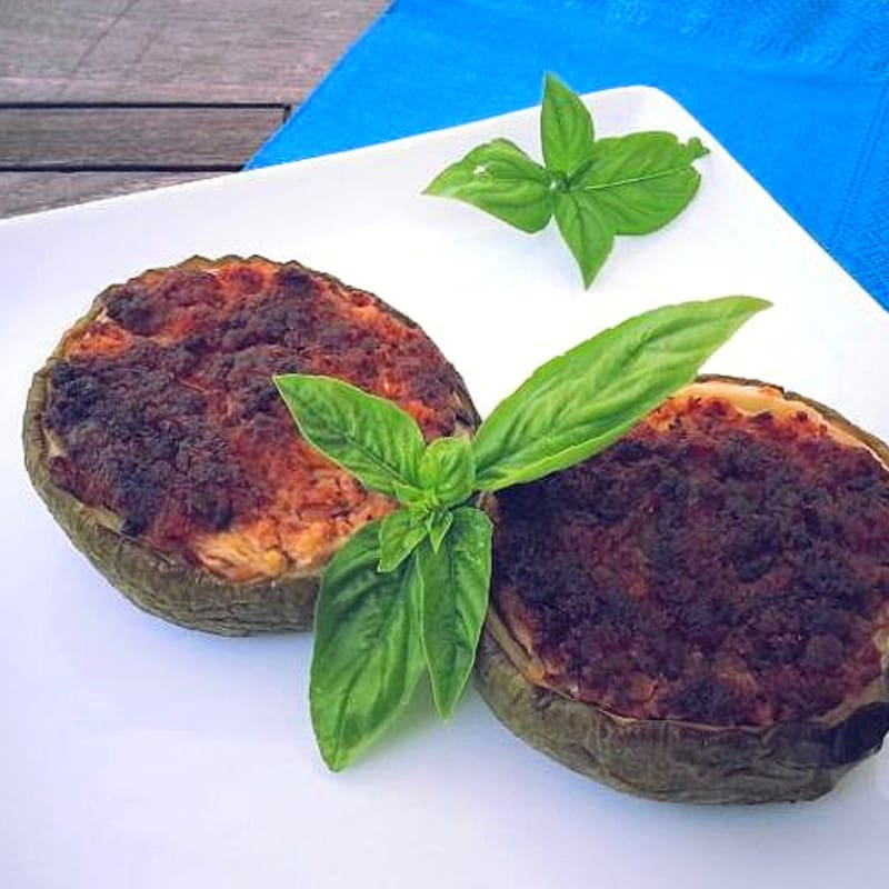 Foto Ricetta Stuffed round zucchini