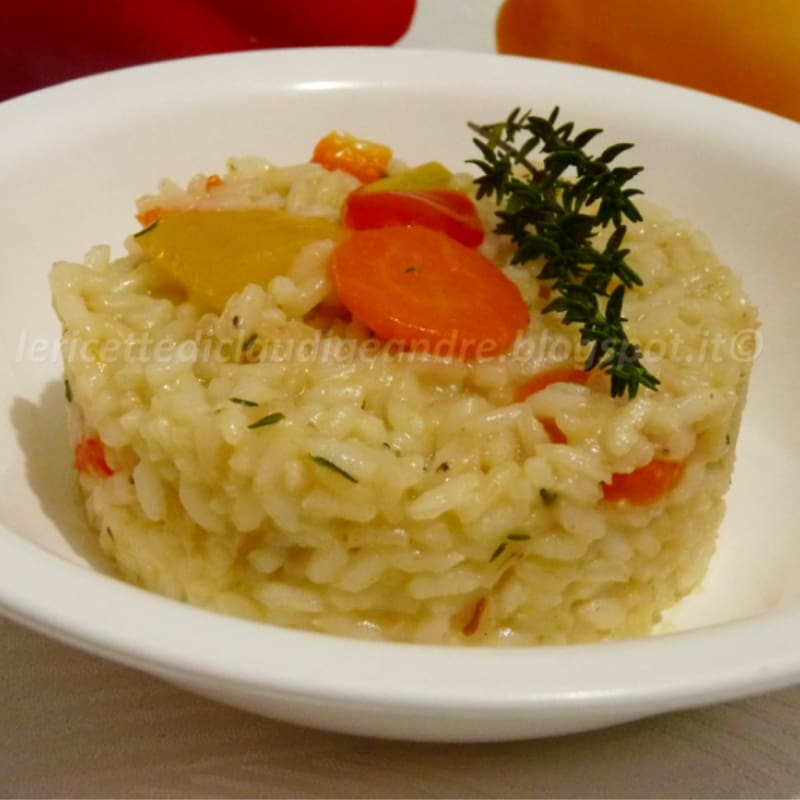 Foto Ricetta Risotto with peppers, carrots and thyme