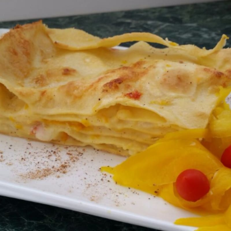 Foto Ricetta Lasagne con crema di peperoni
