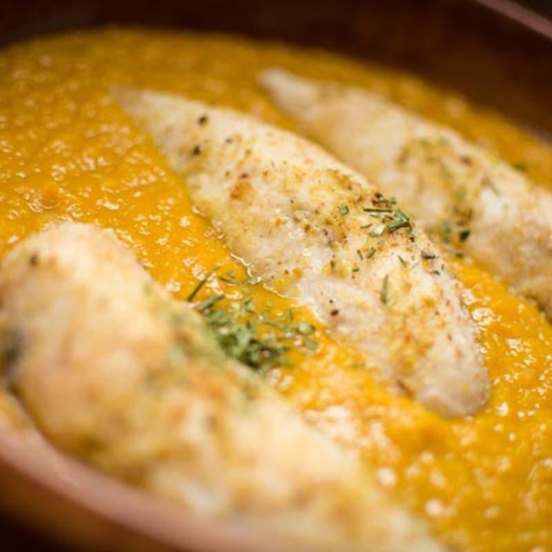 Foto Ricetta Fishing pumpkins: zucca, ceci e gallinella