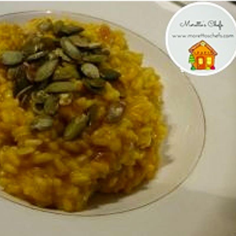 Foto Ricetta Risotto zucca e ragusano con semini croccanti