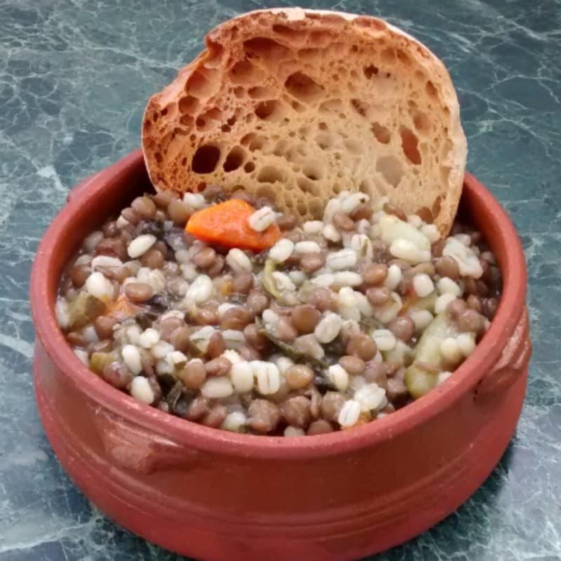 Foto Ricetta Zuppa di lenticchie e orzo perlato