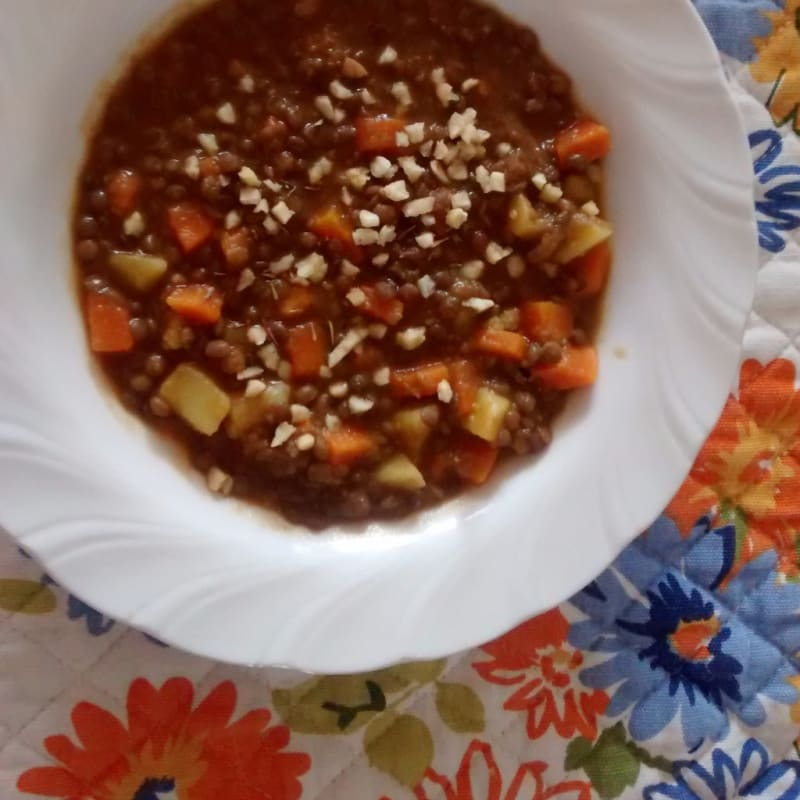 Foto Ricetta Zuppa di lenticchie e carote esotica