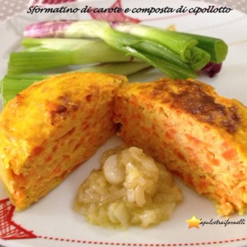 Foto Ricetta Sformatino di carote e composta di cipollotto