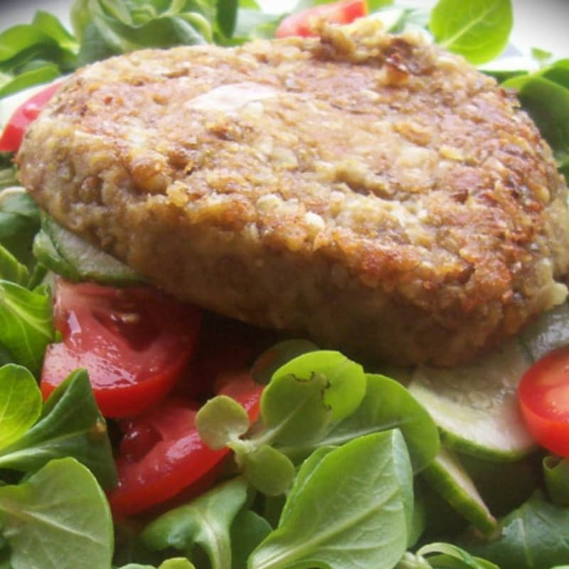 Foto Ricetta Burger vegano proteico