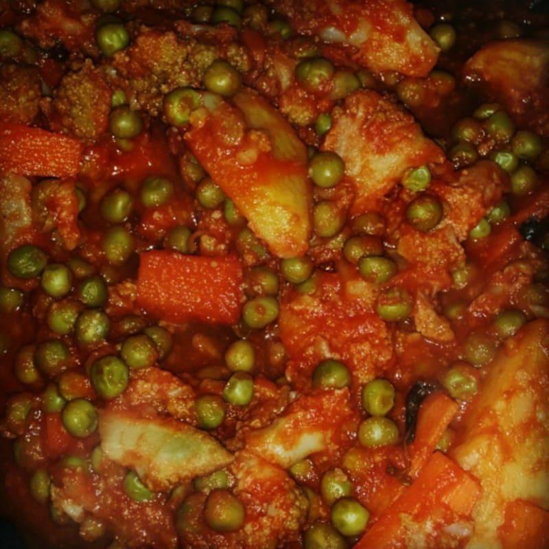 Foto Ricetta Stew potatoes with peas