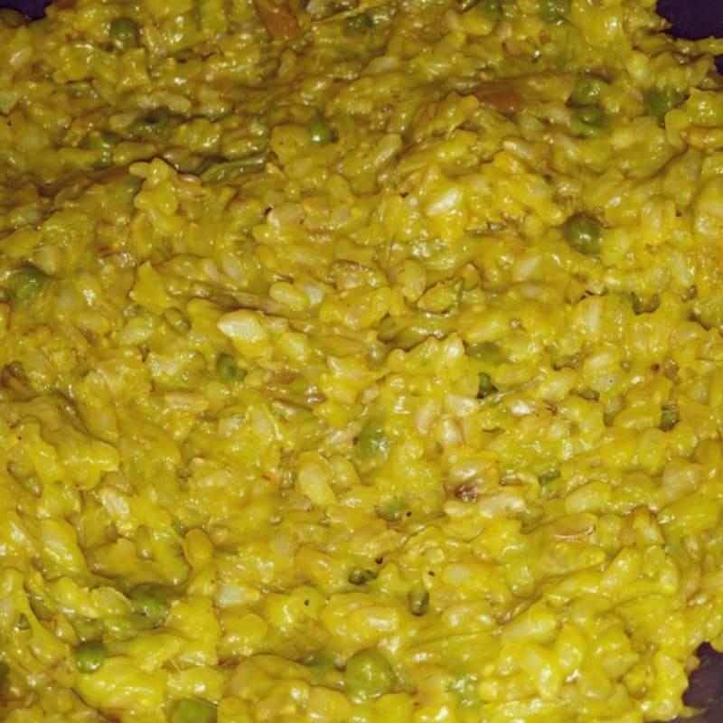 Foto Ricetta Risotto allo zafferano, asparagi e piselli