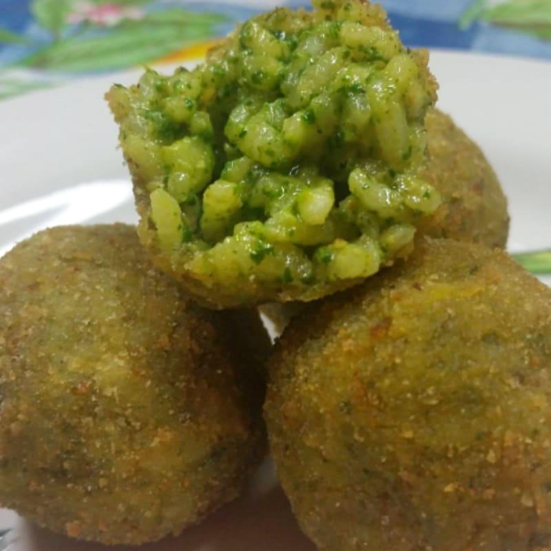 Foto Ricetta Arancinette with arugula pesto