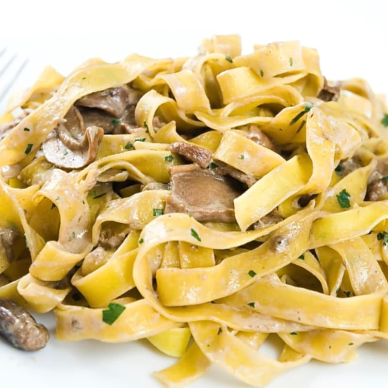 Foto Ricetta Pappardelle with mushrooms