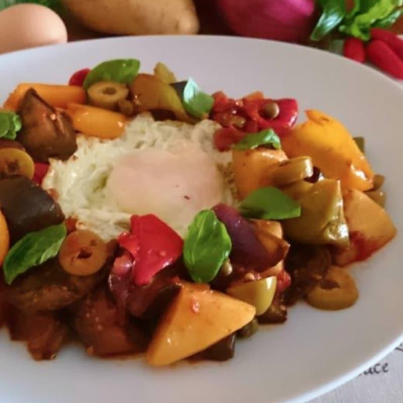 Foto Ricetta Cianfotta with eggs