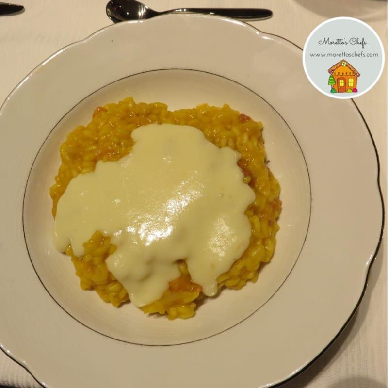 Foto Ricetta Pumpkin Risotto with Taleggio cheese and bacon fondue