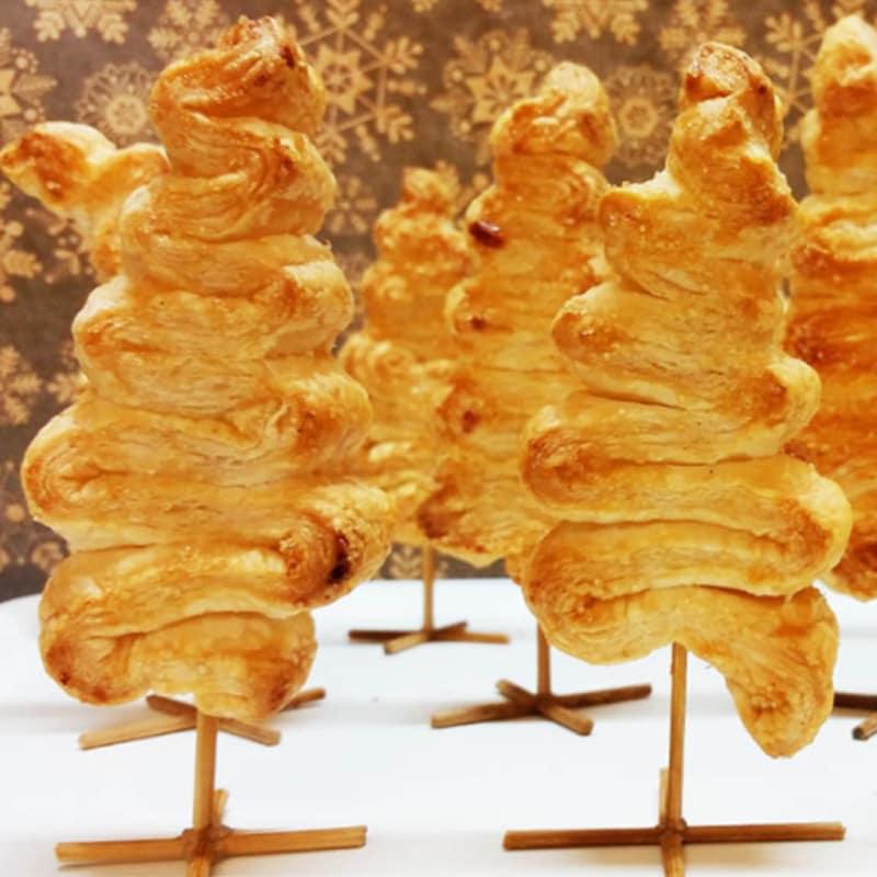 Foto Ricetta Alberelli di natale dolci di pasta sfoglia