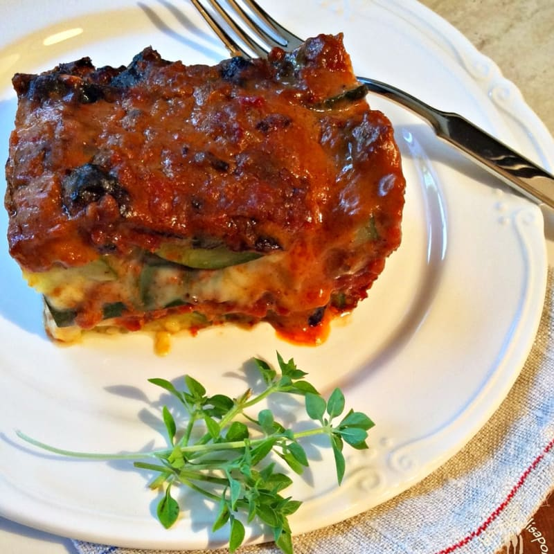 Foto Ricetta Zucchini flan, meat sauce with spices and smoked cheese
