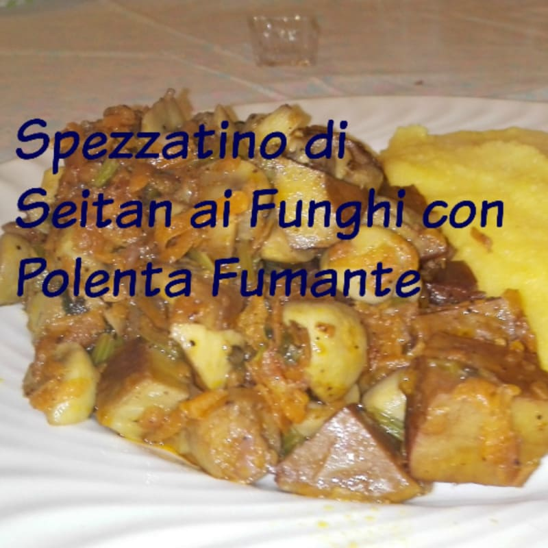 Foto Ricetta Stew seitan with mushrooms and polenta