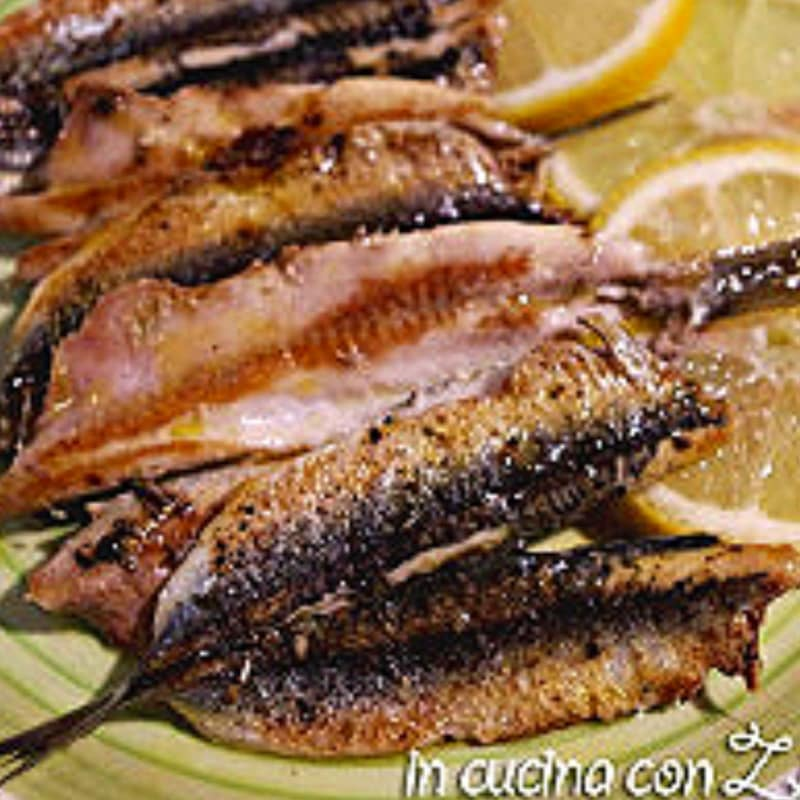 Foto Ricetta Anchovies to the plate