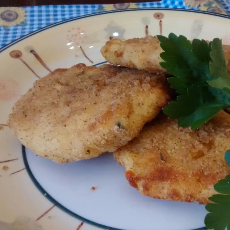Foto Ricetta Medallions of potatoes and smoked cheese