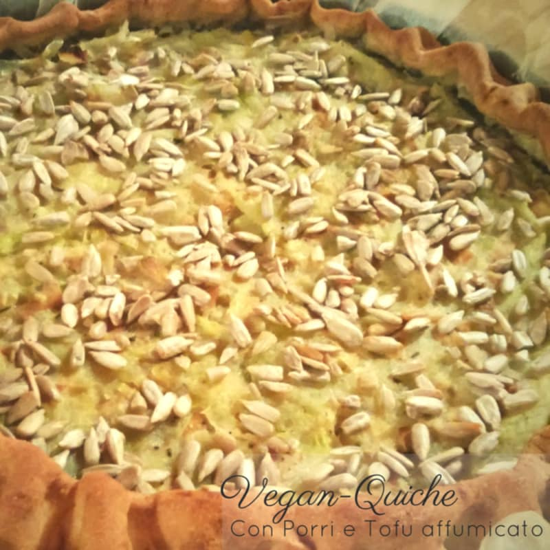 Foto Ricetta Veganquiche with leeks and smoked tofu