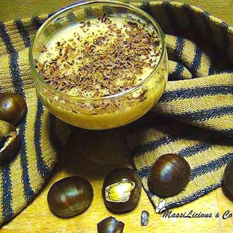 Foto Ricetta Crema di castagne con scaglie di cioccolato fondente