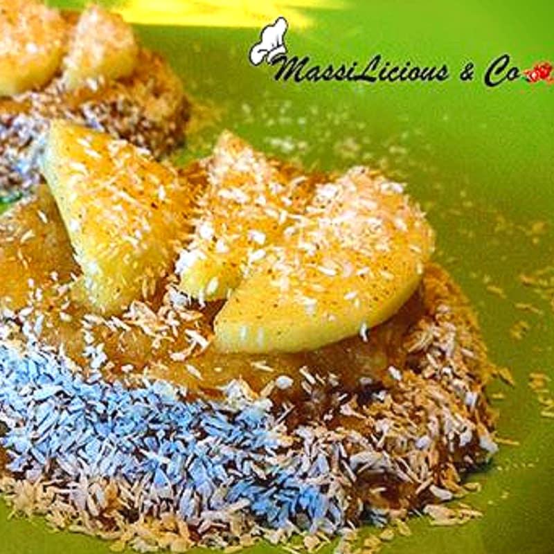 Foto Ricetta Crostatine raw di mela , cannella e cocco