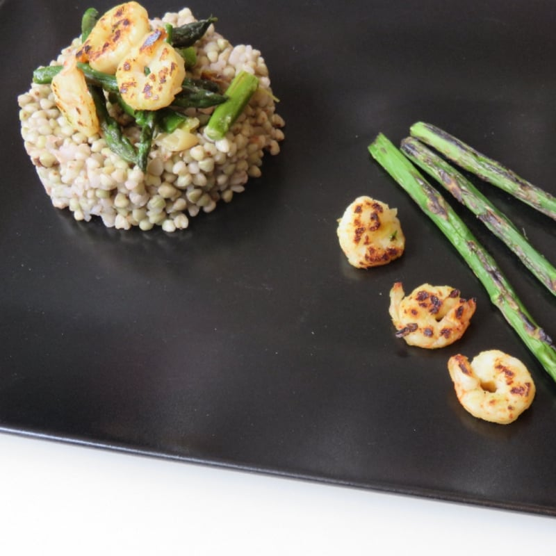 Foto Ricetta Buckwheat with shrimp and asparagus