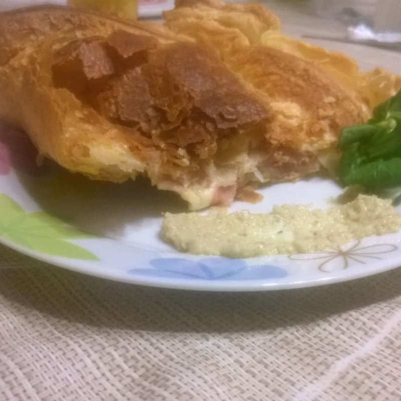 Foto Ricetta Sfogliata artichoke pate and soft cheese
