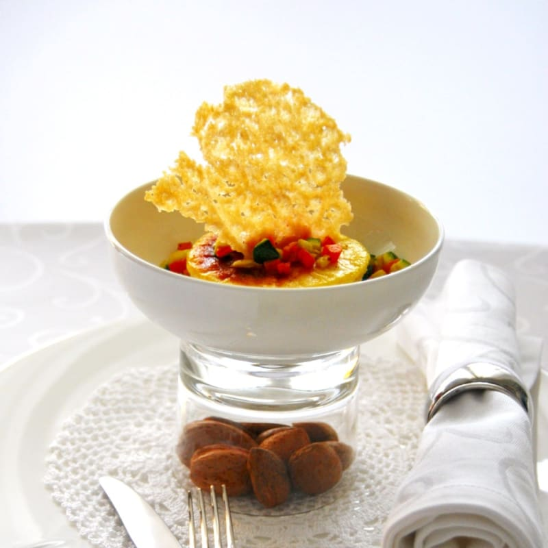 Foto Ricetta Pudding parmesan cheese with almonds