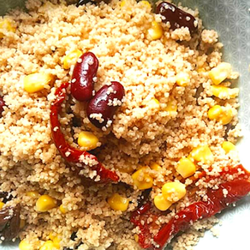 Foto Ricetta Cous cous Spelled with vegetables and legumes