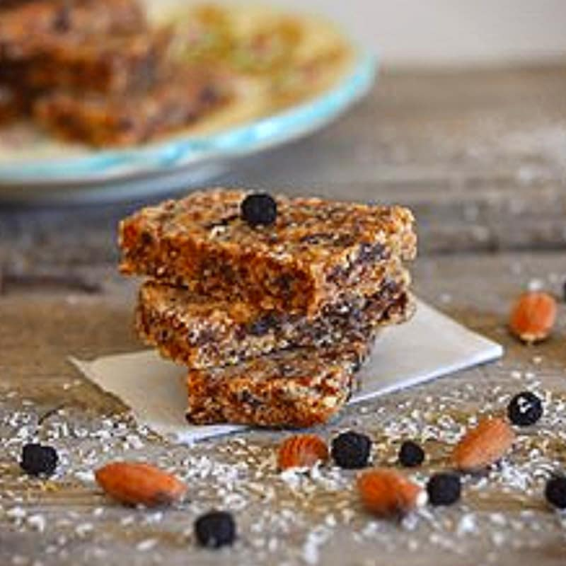 Foto Ricetta Mini bars and dried fruit of aronia berries