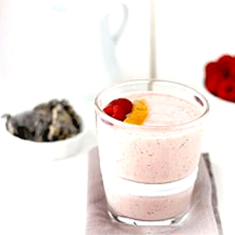 Foto Ricetta Smoothie with pitaya, raspberry and mango