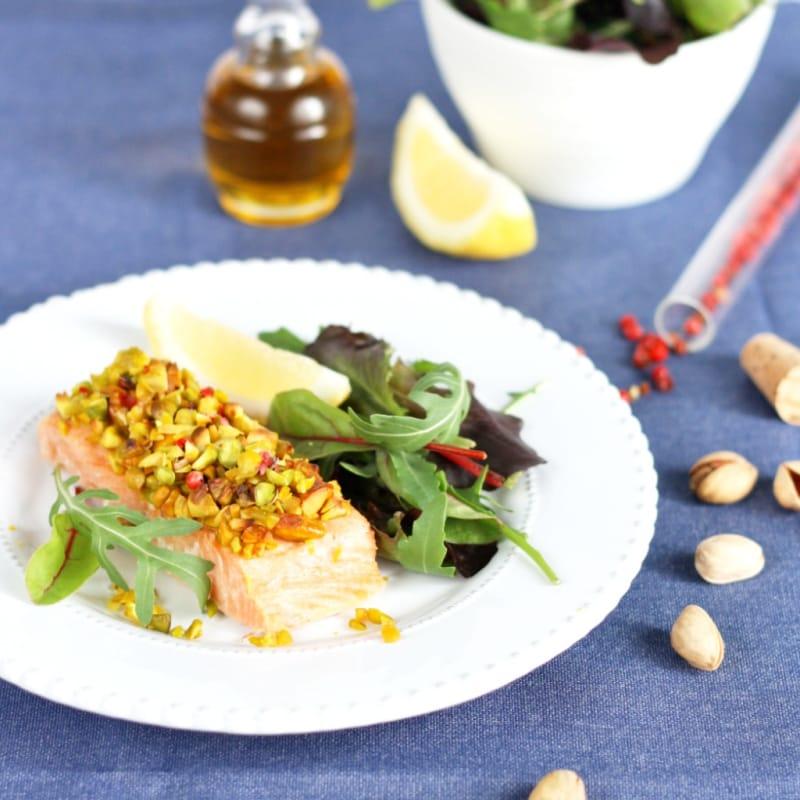 Foto Ricetta Filetto di salmone in crosta di pistacchi