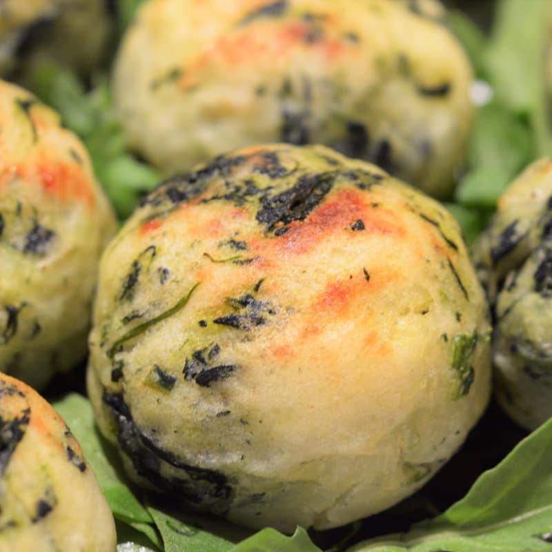 Foto Ricetta Polpette di patate e spinaci al forno