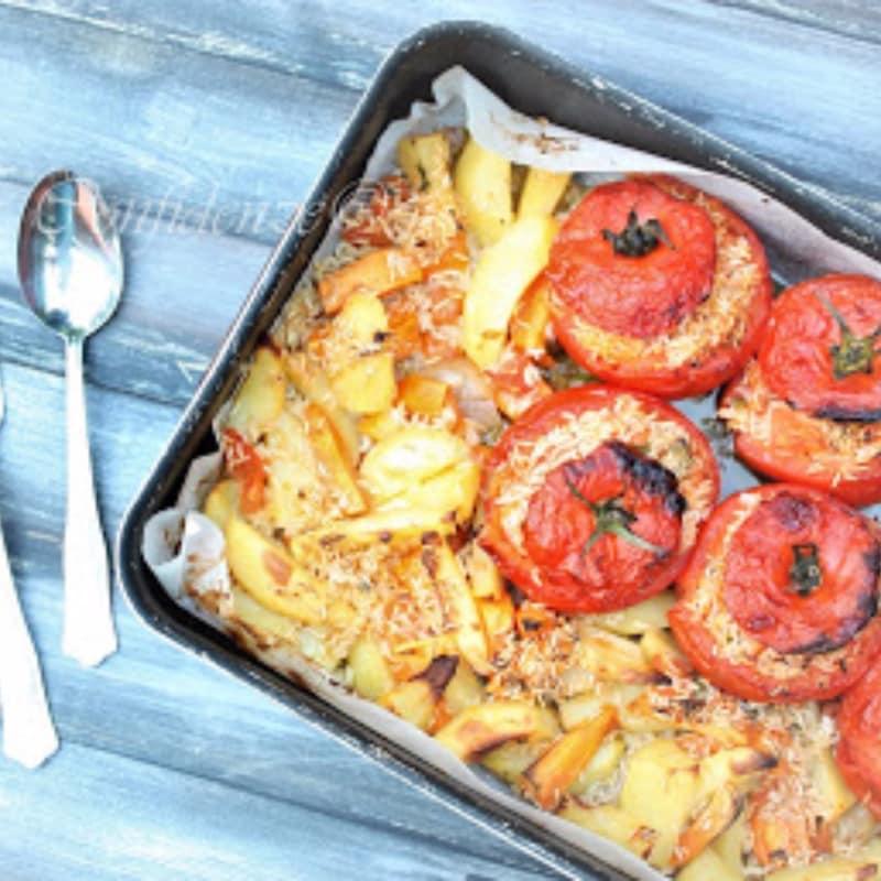 Foto Ricetta Pomodori al riso con patate