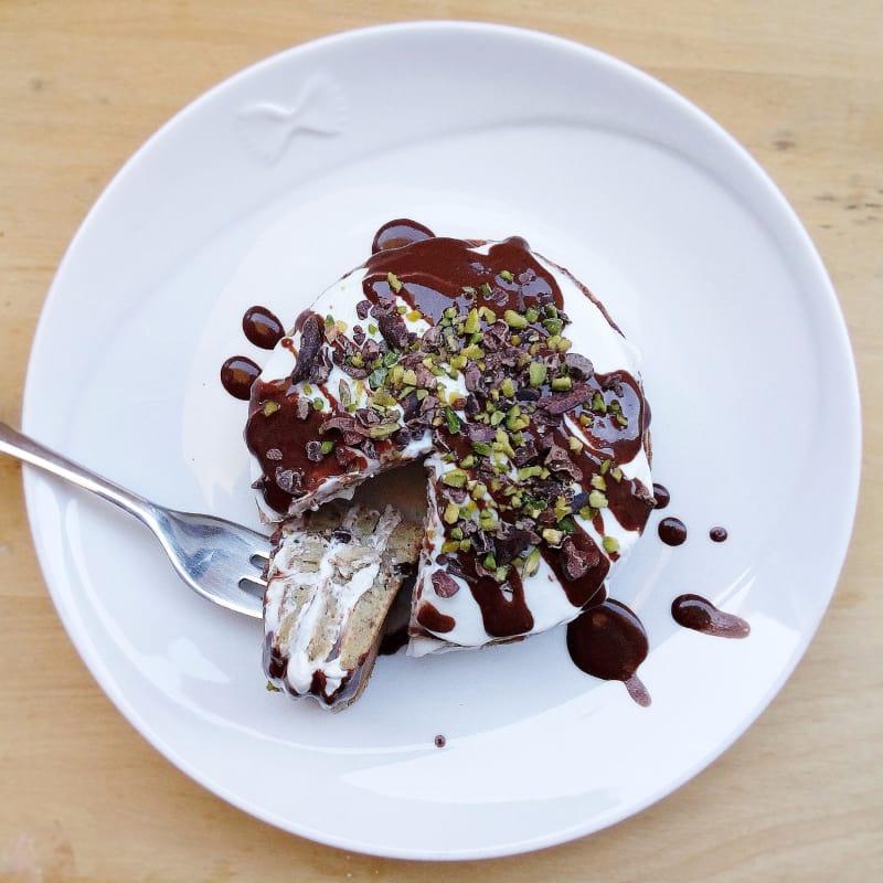 Foto Ricetta Pancakes di farro ai pistacchi