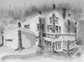 Hillside house plan