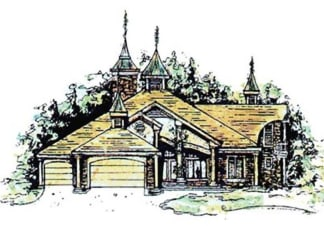 Country French house plan