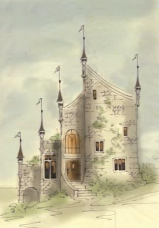 Tiny castle house plan