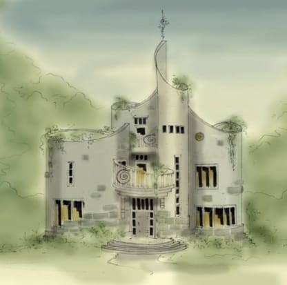 castle house plan