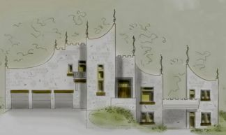modern castle house plan